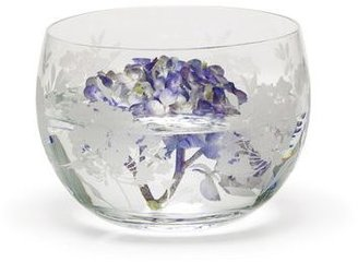 Mikasa Silk Floral Glass Hostess Bowl