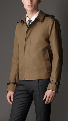 Burberry Leather Detail Harrington Jacket