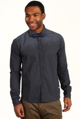 Scotch & Soda L/S Dress Shirt with Bow Tie (Black) - Apparel