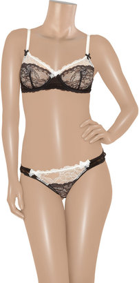 Mimi Holliday Éclair lace and chiffon thong