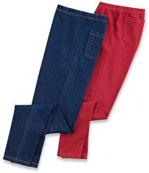 Bed Bath & Beyond Capelli® Denim Stretch Leggings with Back Pockets