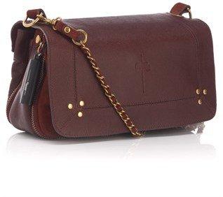 Jerome Dreyfuss Bordeaux Leather Bobi Shoulder Bag