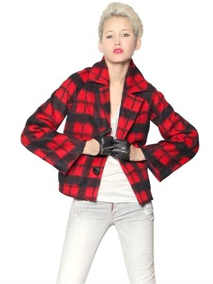 DSquared Checked Wool Alpaca Jacket