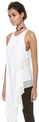 Donna Karan Sleeveless Asymmetric Top