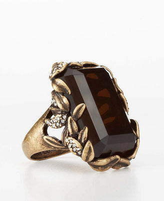 Ann Taylor Botanical Stone Cocktail Ring