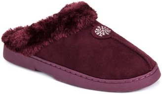 Muk Luks Women's Snowflake Clog Slippers