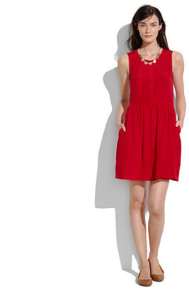 Madewell Shirred Silk Dress
