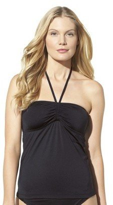 Mossimo Women's Mix and Match Tankini Swim Top -Black