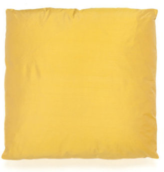 Gump's Yellow Silk Dupioni Pillow