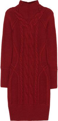 Temperley London Galatea cable-knit merino wool dress