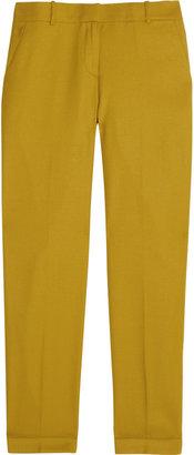 J.Crew Café wool-twill Capri pants