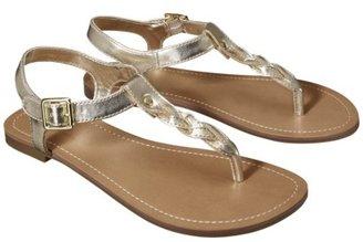 Merona Women's Erin Braided Upper Sandal - Metallic