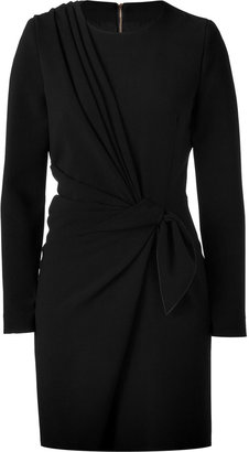 Ungaro Black Gathered Jersey Dress