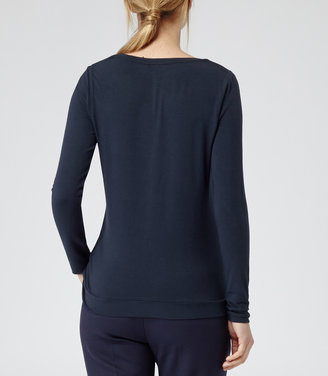 Reiss Misha LACE FRONT TSHIRT