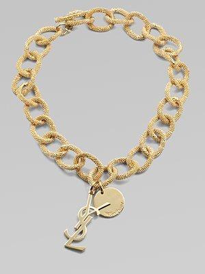 Yves Saint Laurent Textured Links Necklace