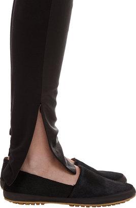 Maison Martin Margiela Leather and Jersey Leggings