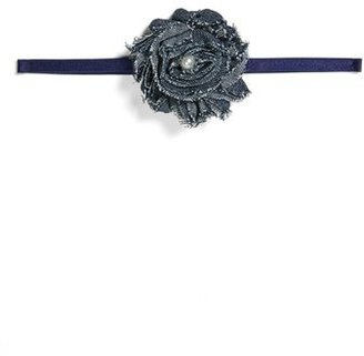 Baby Bling Skinny Chambray Headband (Baby Girls)