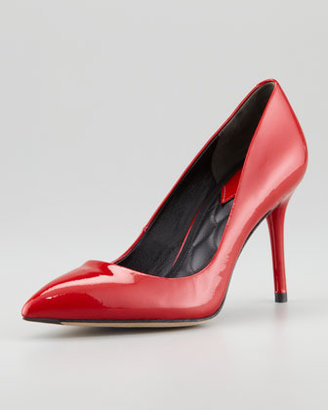 Brian Atwood Malika Pointed-Toe Patent Leather Pump, Red