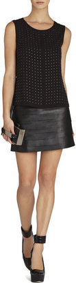 BCBGMAXAZRIA Amalli Pleather-Strapped Mini Skirt