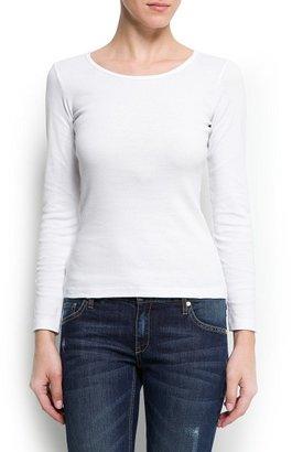 MANGO Cotton essential t-shirt
