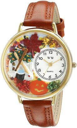 Whimsical Watches Unisex G1213001 Autumn Leaves Tan Leather Watch