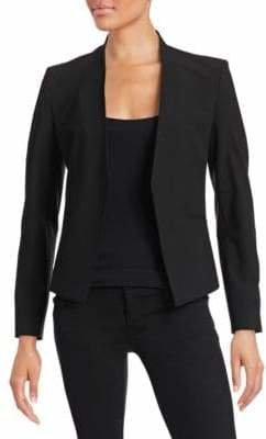 Theory Wool Open-Front Blazer