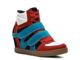 N.Y.L.A. Brander Color Block Wedge Sneaker