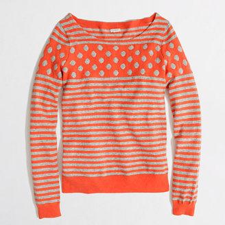 J.Crew Factory Factory warmspun intarsia stripe-dot sweater in tangerine