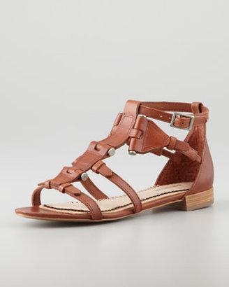 Pour La Victoire Eleni Hinged Gladiator Sandal, Cognac