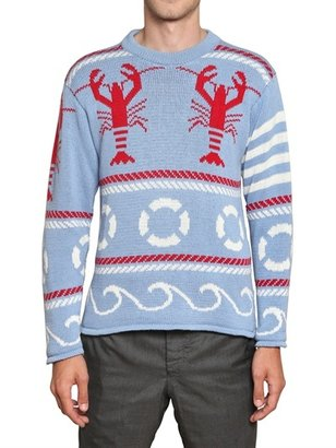 Thom Browne Fair Isle Lobster Cotton Knitwear