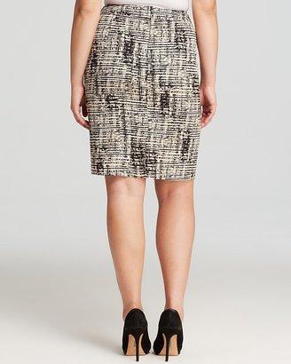 Calvin Klein Abstract Print Pencil Skirt