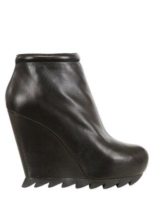 Camilla Skovgaard 120mm Smooth Leather Boot Wedges