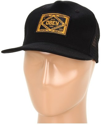 Obey Trademark Trucker Hat (Black) - Hats
