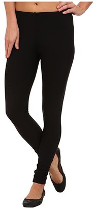 Plush Fleece-Lined Matte Spandex Legging (Black) Women's Clothing
