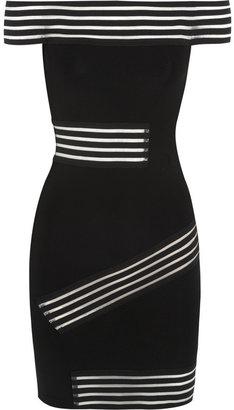 Christopher Kane Bardot elastic-paneled stretch-jersey mini dress