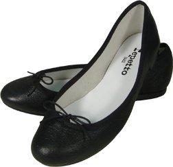 Repetto Black Lamb Skin Ballet Flats, 30% off