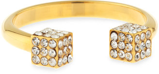 Vita Fede Crystal Double-Cube Ring, Yellow Gold