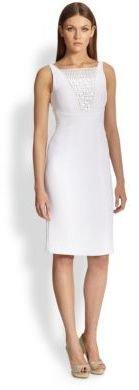 Monique Lhuillier ML Beaded Crepe Dress