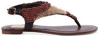 Dolce Vita Delancey Beaded Flat Thong Sandals