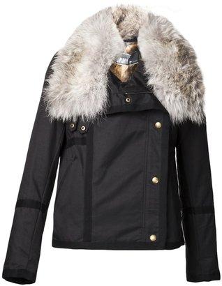 Yves Salomon fur collar coat