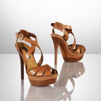 Ralph Lauren Jodene Calf Platform Sandal