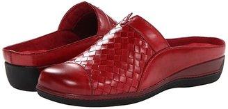 SoftWalk San Marcos (Dark Red Burnished Veg Leather) Women's Clog Shoes
