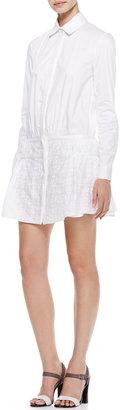 Thakoon Eyelet-Peplum Shirtdress