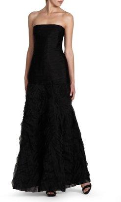 BCBGMAXAZRIA Marisa Layered Silk Organza Evening Gown