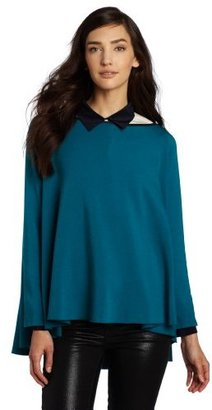 So Low SOLOW Women's Swing Pullover With Collar