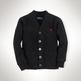 Long-Sleeved V-Neck Cardigan
