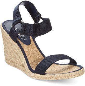 Ralph Lauren by Ralph Indigo Espadrille Wedge Sandals
