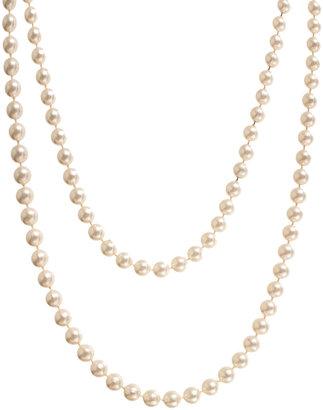 Asos Paris Hilton Long Pearl Rope Necklace