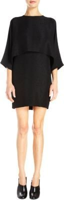 Stella McCartney Python-Stamped Double-Layer Dress