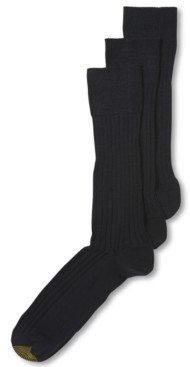 Gold Toe Adc Windsor Wool 3 Pack Dress Crew Men's Socks